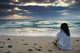 Happiness beach scene